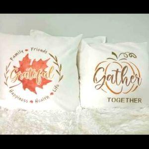 Fall Thanksgiving Throw Pillow Covers Handmade